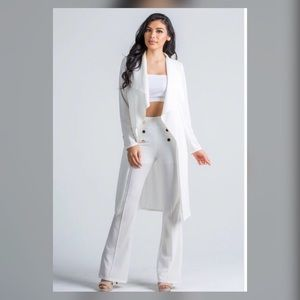 Dresses & Skirts - Off white 2 piece pants set
